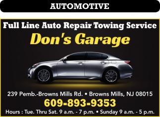 Full Line Auto Repair Towing Service