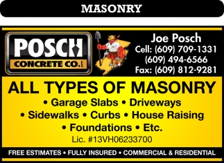 All Types Of Masonry