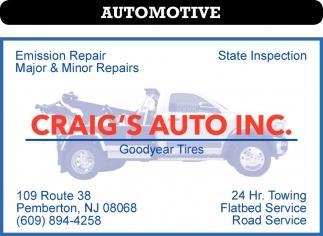 Emission Repair, Major & Minor Repairs