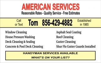 Window Cleaning & Pressure Washing