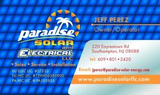 Jeff Perez Owner/Operator