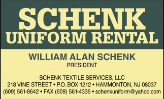 Schenk Uniform Rental